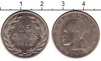 Изображение Монеты Либерия 25 центов 1968 Медно-никель XF