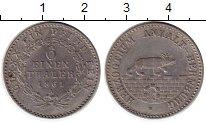 Монета Анхальт-Бернбург 1/6 талера Серебро 1861 XF