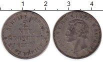 Изображение Монеты Германия Саксония 2 гроша 1869 Серебро VF+