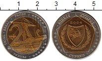 Изображение Монеты Кипр 2 евро 2004 Биметалл UNC-