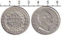 Изображение Монеты Индия 1 рупия 1855 Серебро XF