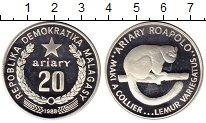 Изображение Монеты Мадагаскар 20 ариари 1988 Серебро Proof-