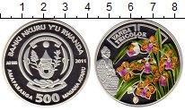 Изображение Монеты Руанда 500 франков 2011 Серебро Proof-