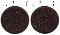Изображение Монеты Люксембург 2 1/2 сантима 1901 Бронза VF