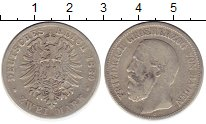 Изображение Монеты Германия Баден 2 марки 1880 Серебро VF