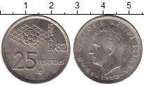 Изображение Монеты Испания 25 песет 1980 Медно-никель XF