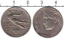 Изображение Монеты Италия 20 сентесим 1921 Медно-никель VF
