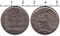 Изображение Монеты Бразилия 20 сентаво 1970 Медно-никель UNC-