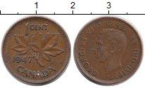 Изображение Монеты Канада 1 цент 1947 Бронза XF