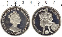 Изображение Монеты Великобритания Фолклендские острова 2 фунта 1996 Серебро Proof-