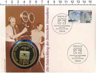Изображение Подарочные монеты Германия Медаль 1993 Медно-никель UNC Немецкое телевидение