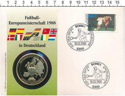 Изображение Подарочные монеты ФРГ Медаль 1988 Медно-никель UNC Чемпионат Европы по