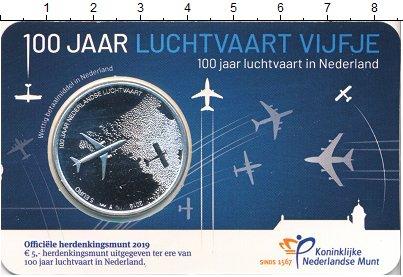 Изображение Мелочь Нидерланды 5 евро 2019 Посеребрение Proof
