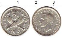 Изображение Монеты Новая Зеландия 3 пенса 1946 Серебро XF+
