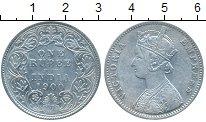 Изображение Монеты Индия 1 рупия 1900 Серебро XF