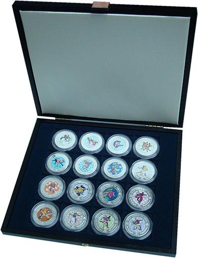 Изображение Подарочные монеты Малави Из Греции в Китай 2008 Посеребрение UNC Набор монет номинала