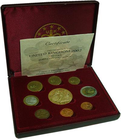 Изображение Подарочные монеты Великобритания Европроба 2002 2002  UNC Набор фантазийных ев