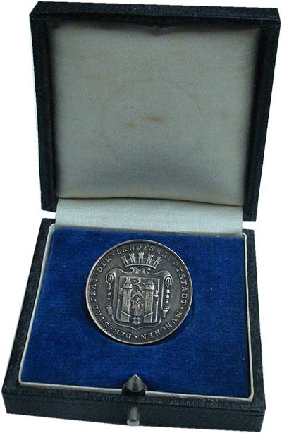 Изображение Подарочные монеты Бавария Медаль 0 Серебро UNC- Фонд обслуживания и