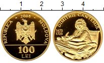 Изображение Монеты Молдавия 100 лей 2008 Золото Proof