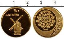 Изображение Монеты Эстония 50 крон 2008 Золото Proof