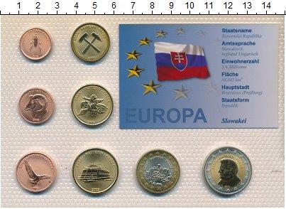 Изображение Наборы монет Словакия Словакия 2008 2008 Неопределено UNC В наборе 8 монет ном