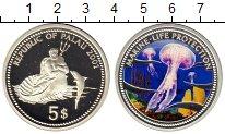 Монета Палау 5 долларов Серебро 2001 Proof фото