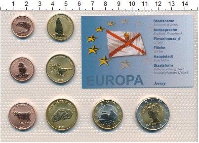 Изображение Наборы монет Остров Джерси Остров Джерси 2006 2006  UNC Проба. В наборе 8 мо