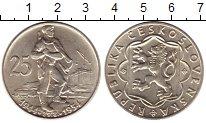 Изображение Монеты Чехия Чехословакия 25 крон 1954 Серебро UNC-
