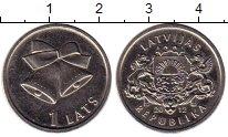 Изображение Монеты Латвия 1 лат 2012 Медно-никель XF