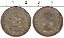 Изображение Монеты ЮАР 1 шиллинг 1953 Серебро XF-