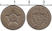 Изображение Монеты Куба 1 сентаво 1961 Медно-никель XF