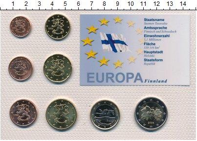 Изображение Подарочные монеты Финляндия Набор 2006 года 2006  UNC Набор из восьми моне