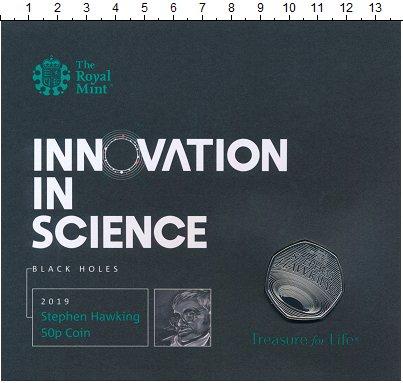 Изображение Подарочные монеты Великобритания 50 пенсов 2019 Медно-никель UNC Наследие Стивена Хок