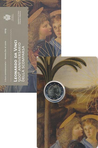 Изображение Подарочные монеты Сан-Марино 2 евро 2019 Биметалл UNC
