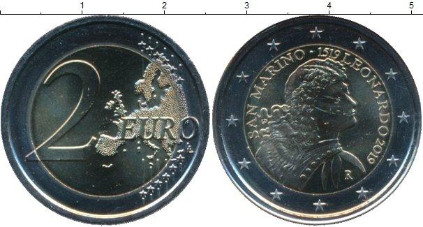 Картинка Подарочные монеты Сан-Марино 2 евро Биметалл 2019