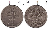 Изображение Монеты Ватикан 50 сентесим 1934 Медно-никель XF
