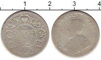 Изображение Монеты Индия 1/4 рупии 0 Серебро F