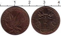 Изображение Монеты Ватикан 5 сентесим 1940 Бронза XF