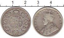 Изображение Монеты Индия 1/2 рупии 1917 Серебро XF-