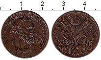 Изображение Монеты Ватикан 10 сентесим 1930 Бронза UNC-