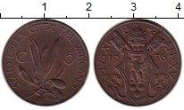 Монета Ватикан 5 сентесим Бронза 1936 XF фото