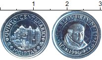 Изображение Монеты Испания 100 песет 1990 Серебро Proof