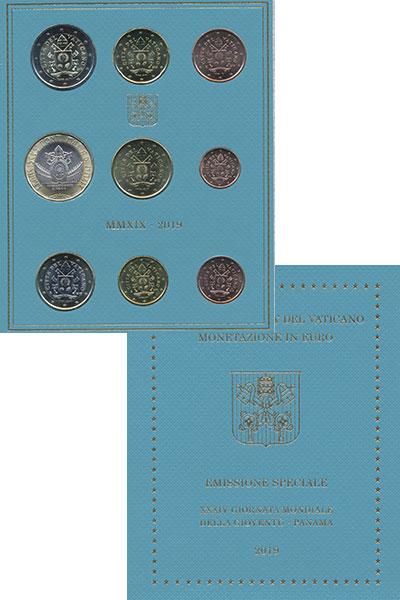 Изображение Подарочные монеты Ватикан 10 евро 2019