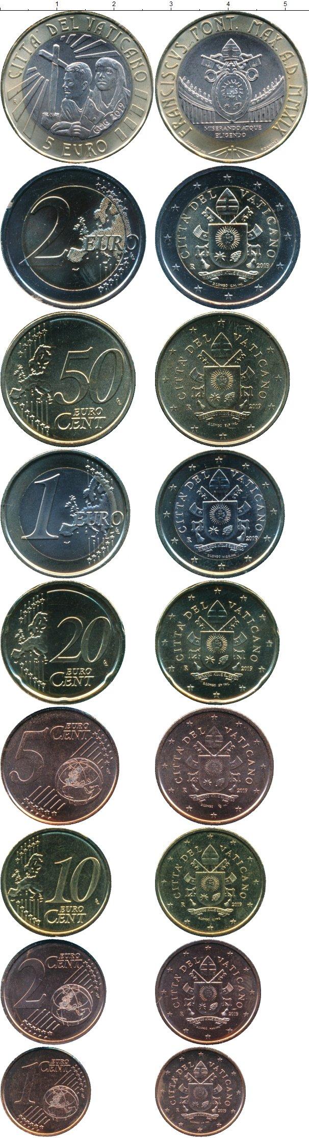Картинка Подарочные монеты Ватикан 10 евро  2019