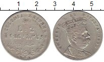 Изображение Монеты Эритрея 2 лиры 1890 Серебро XF-