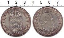 Изображение Монеты Монако 10 франков 1966 Серебро XF+