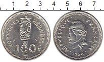 Изображение Монеты Франция Новые Гебриды 100 франков 1966 Серебро UNC-