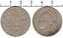 Изображение Монеты Либерия 50 центов 1960 Серебро XF-