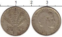 Изображение Монеты Уругвай 20 сентесим 1942 Серебро VF