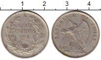 Изображение Монеты Чили 20 сентаво 1916 Серебро XF